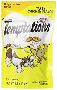 Whiskas Temptations Tasty Chicken Flavour Treats for Cats, 3-Ounce, 12 Count
