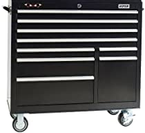 Big Sale Best Cheap Deals Viper Tool Storage V4109BLR 41-Inch 9-Drawer 18G Steel Rolling Cabinet, Black