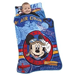 Disney Mickey Mouse Clubhouse Nap Mat (Quilted Mat, Blanket and Pillow All in One)