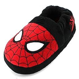 Marvel Avengers Spider-Man Kids A-Line Slippers (Red Spider-Man, L(9/10) M US Toddler)