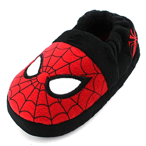 Marvel Avengers Spider-Man Kids A-Line Slippers (Red Spider-Man, L(9/10) M US Toddler) (Boys House Slippers compare prices)
