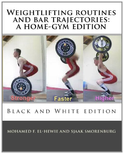 Weightlifting routines and bar trajectories: a home-gym edition: Black and White edition