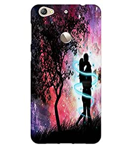 ColourCraft Loving Couple Design Back Case Cover for LeEco Le 1S