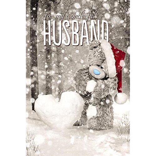 Me To You Tatty Teddy 3D Holographic Card - Wonderful Husband Christmas Card