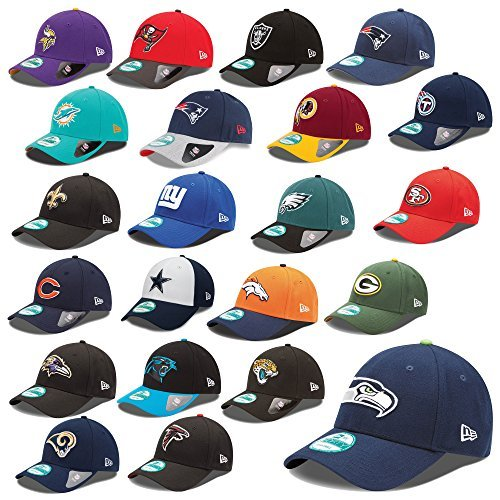 New Era 9forty Strapback Cappello NFL The League Seahawks Raiders Patrioti raiders Pantere Broncos UVM - Washington Redskins #2449, OSFM (One Size fits most)