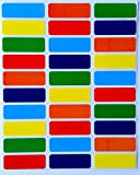 Rectangular Color Coding Labels 1 3/8 inch by 1/2 Inch --Value pack Assorted colors coding Stickers 6 Colors--Blue, Purple, Green, Orange, Red and Yellow-- Rectangle Labels multi Pack--Classic colors semi gloss (360 Pack)