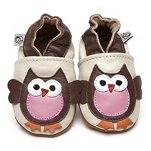 Suaves Zapatos De Cuero Del Bebé Búho 6-12 meses - Bebe Hogar