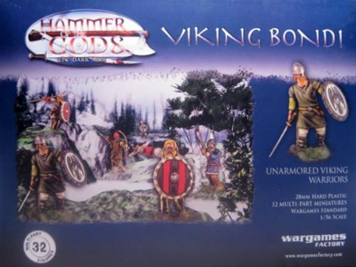 Wargames Factory: Viking Bondi - Unarmored Viking Warriors (32)