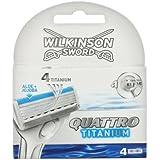Wilkinson - 7001098W - Quattro Titanium Sensitive - Chargeur de 4 Lames