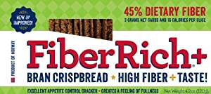 FIBER RICH + BRAN CRISPBREAD(ORIGINAL) 4.2 oz 10 PACK