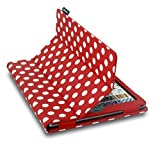 Lente Designs Folding Folio Smart Cover Case for Apple iPad Air - Red/White