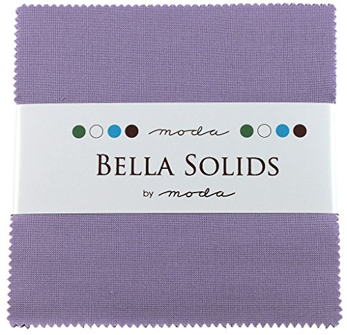Bella Solids Lilac Moda Charm Pack By Moda Fabrics; 42 - 5