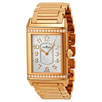 Jaeger LeCoultre Grande Reverso Silver Dial 18kt Rose Gold Ladies Watch Q3202121