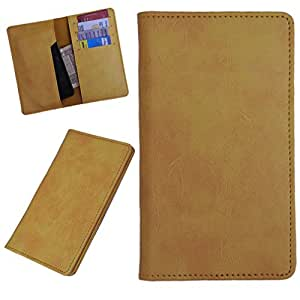 DCR Pu Leather case cover for Blu Vivo 4.8 HD (yellow)