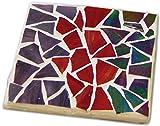 Jennifers Mosaics Stained Glass Mosaic Coaster Kit, Makes 4 Coasters
