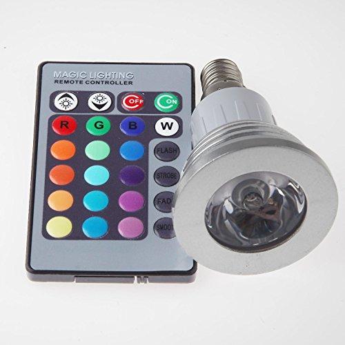 2Pcs Pack Gu10 Mr16 E27 E26 Remote Control 5W Warm White Cool White Rgb Led Spotlight Bulb High Power 110V 230V Led Spotlight Rgb