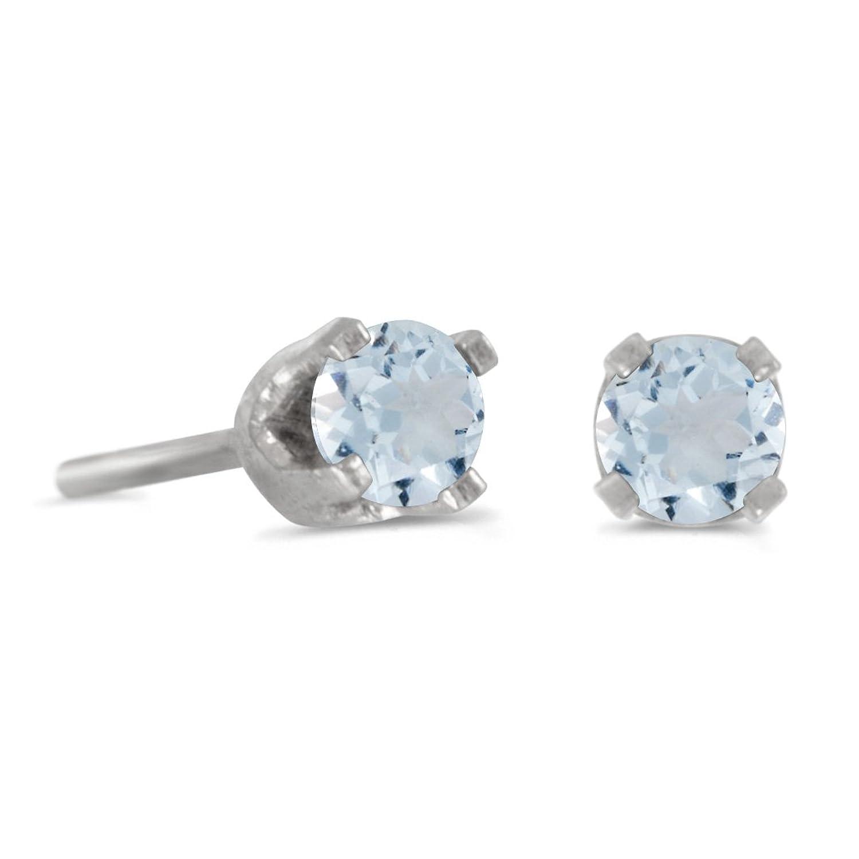Peridot Stud Earrings White Gold Stud Earrings in 14k White