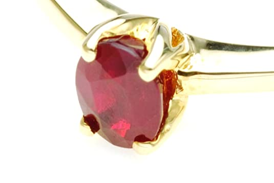 9ct Yellow Gold Real Ruby Ring