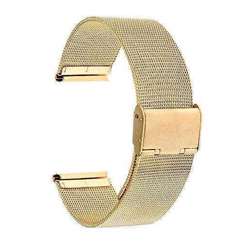 TRUMIRR 16 millimetri orologio Mesh cinghia della fascia dell'acciaio inossidabile del metallo cinturino per Moto 360 2 42mm delle donne 2015