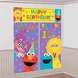 Sesame Street 1st Birthday Scene Setter Wall Decorations