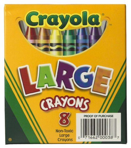 Crayola 8ct Large Crayons Lift Lid Box