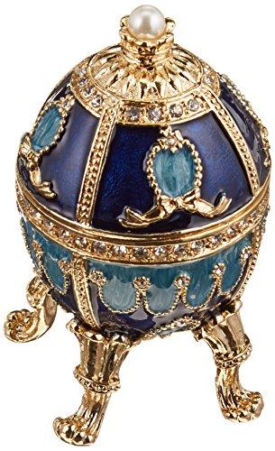 Progettare uova Toscano FH0858 Museo Pushkin smaltate in stile Fabergé Natalia Statua