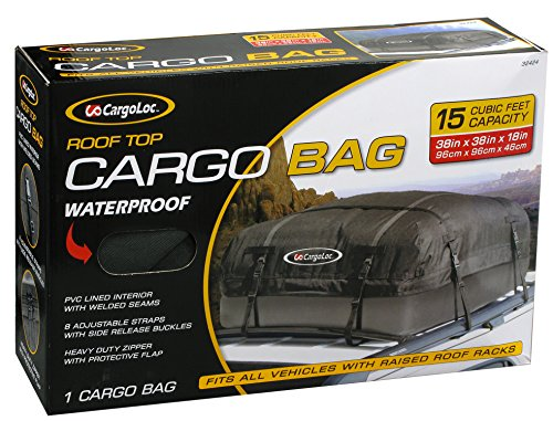 Cargoloc 32424 15-Cubic/Feet Deluxe Roof Top Waterproof Cargo Carrier (Car Top Luggage Carriers compare prices)
