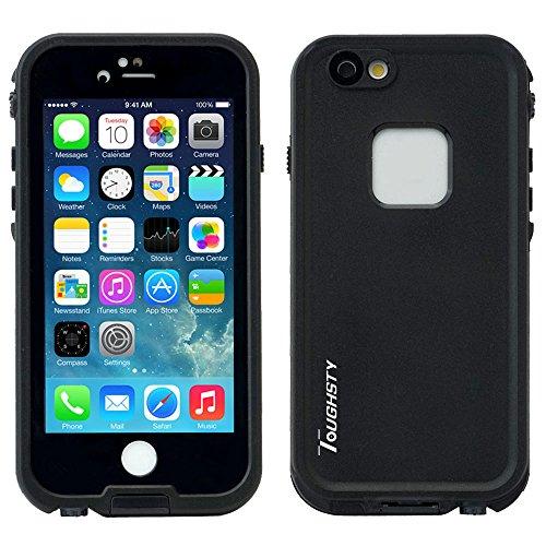 Toughsty iPhone6 防水ケース 防塵耐衝撃ケース 防水ジャケット 水深2m防水 (ブラック)