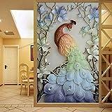 Faraway Peacock 5D DIY Crystal Diamond Rhinestone Painting Pasted Paint by Number Kits Animal Full Diamond Mosaic 40x60cm(Multicolour) (Color: Multicolour)