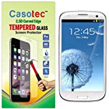 Casotec 2.5D Curved Edge Tempered Glass Screen Protector For Samsung Galaxy S3 I9300