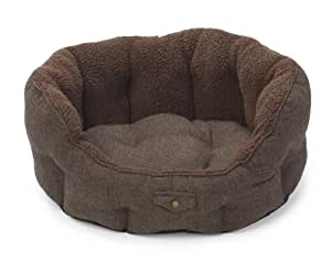House of Paws Harris Tweed Oval Dog Bed, Large