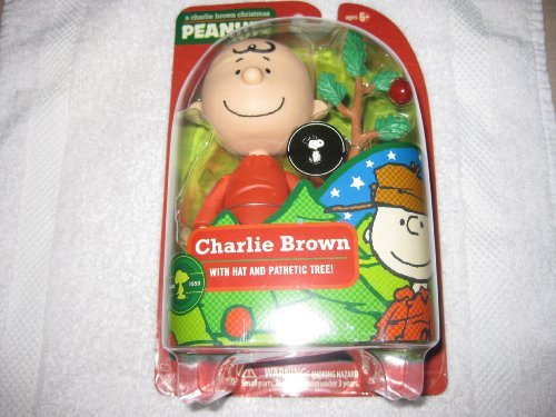 A Charlie Brown Christmas Figure - Charlie Brown with Hat and Pathetic Tree 2009