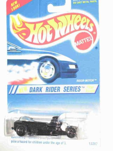 Dark Rider Series #4 Rigor-Motor 6-Spoke Wheels #300 Collectible Collector Car Mattel Hot Wheels - 1