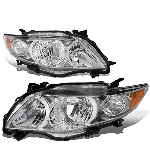 Toyota Corolla 10th Gen Pair of OE Style Chrome Housing Amber Corner Headlight (Toyota Corolla Time compare prices)