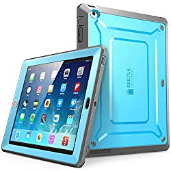 iPad 2 Case SUPCASE [Heavy Duty] Apple iPad Case [Unicorn Beetle PRO Series] Full-body Rugged Hybrid Protective Case Cover with Built-in Screen Protector for the New iPad 2 (2nd Generation) Dual Layer Design + Impact Resistant Bumper (Blue/Black)
