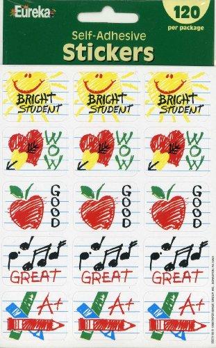 Eureka Student Self-adhesive Motivational Stickers, Set of 120