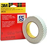 3M Double Coated Urethane Foam Tape 4026 Neutral, 1 Inch x 6 Yards 1/16-inch