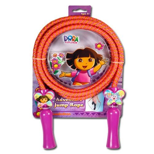 Dora Deluxe Jump Rope with Shaped Handles in 3d Blister