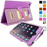英国Snugg社製 iPad mini & iPad mini 2 Retina ケース - エグゼクティブカバー - カードポケット・生涯補償付き(パープル)
