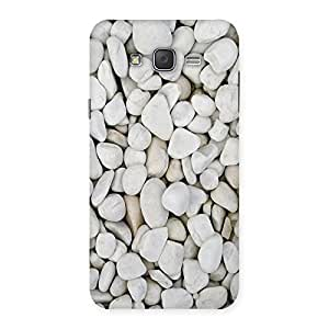 Ajay Enterprises Pure White Stones Back Case Cover for Galaxy J7