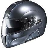 HJC Metallic Men's IS-MAX BT Bluetooth Street Bike Motorcycle Helmet - Anthracite / Large