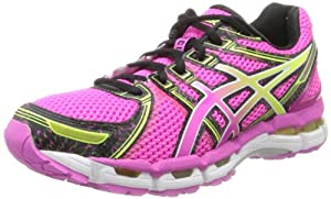 ASICS Women's GEL-Kayano 19 Running Shoe,Neon Pink/Sunshine/Black,10 B US