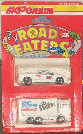 Pepsi Majorette Road Eaters Gotta Have It Car and uh huh Delivery Truck 200 Series