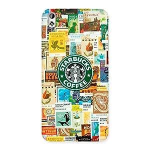 Coffee SB Multicolor Back Case Cover for HTC Desire 816