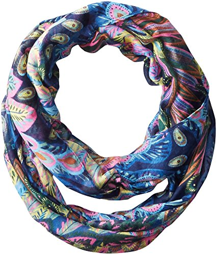 La Fiorentina Women's Peacock Print Infinity Scarf
