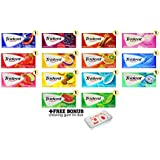Trident Super Pack Mixed Variety Chewing Gum Assortment! Trident Sugar Free Gum Variety Pack Includes Trident Wild Blueberry Twist, Trident Black Raspberry Twist, Trident Cinnamon, Trident Bubblegum, Trident Strawberry Twist, Trident Passionberry Twist, Trident Tropical Twist, Trident Original Flavor, Trident Island Berry Lime, Trident Pineapple Twist, Trident Wintergreen, Trident Minty Sweet Twist, Trident Watermelon Twist, & Trident Spearmint!! Includes Bonus Variety To Go Chewing Gum Tin Box!! Bulk Sampler of 14 Packs