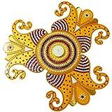 Bold N Elegant Yellow Handcrafted Designer Decorative Acrylic Readymade Rangoli Design