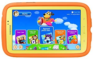"Samsung Galaxy Tab 3 Kids - Tablet - Android 4.1.2 (Jelly Bean) - 8 GB - 7"" TFT ( 1024 x 600 ) - rear camera + front camera - USB host - microSD slot - Wi-Fi, Bluetooth - yellow"