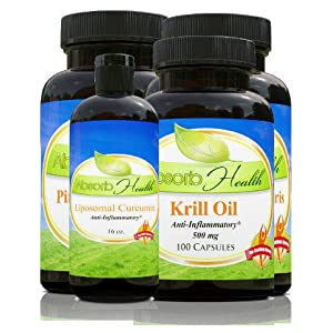 Healthy Joints Power Pack | Get Powerful Supplements : Krill Oil, Pine Bark Extract, Liposomal Curcumin and Cissus...