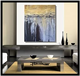 Abstract Painting Limited Edition Hand Embellished, Textured, Ready to Hang! 36 x 30 x 1.5 \